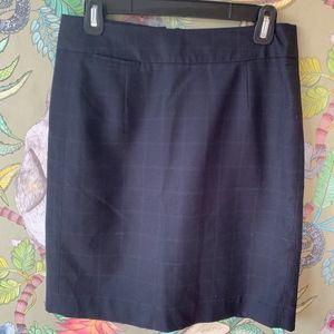 Blue check mini suit skirt